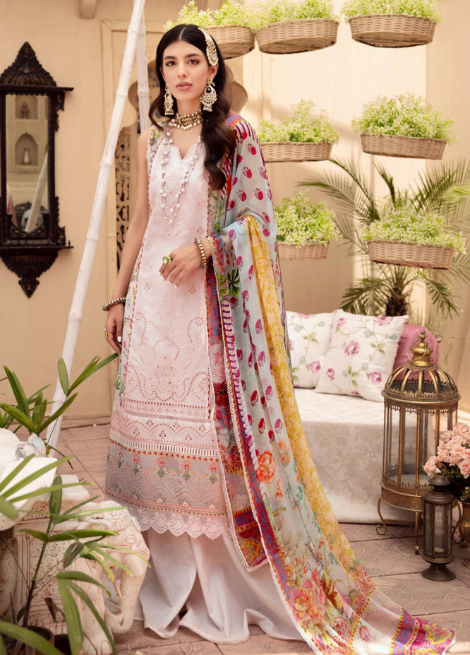 Noor by Saadia Asad Embroidered Lawn Suits Unstitched 3 Piece SA21-N2 07 - Summer Collection