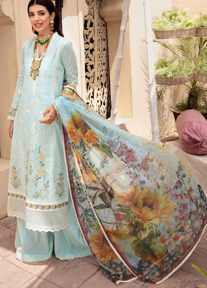 Noor by Saadia Asad Embroidered Lawn Suits Unstitched 3 Piece SA21-N2 09 - Summer Collection
