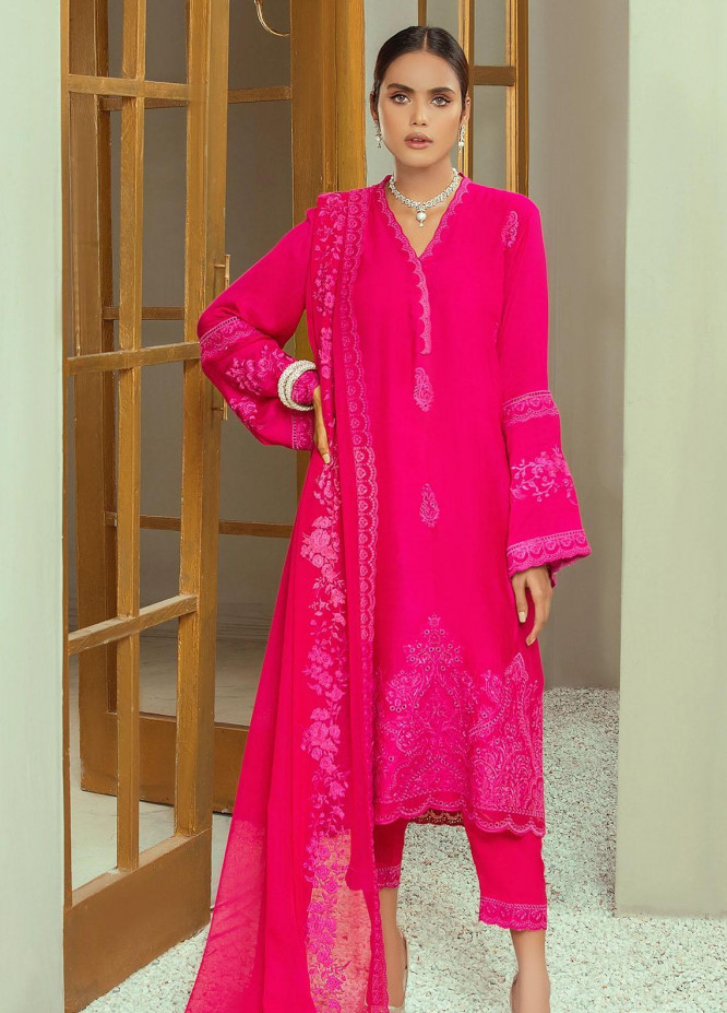 Nurani By Elegance Embroidered Cotton Net Suits Unstitched 3 Piece ELG21N GULNAR - Festive Collection