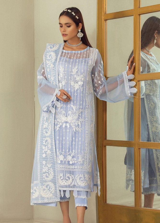 Nurani By Elegance Embroidered Organza Suits Unstitched 3 Piece ELG21N MUNA - Festive Collection