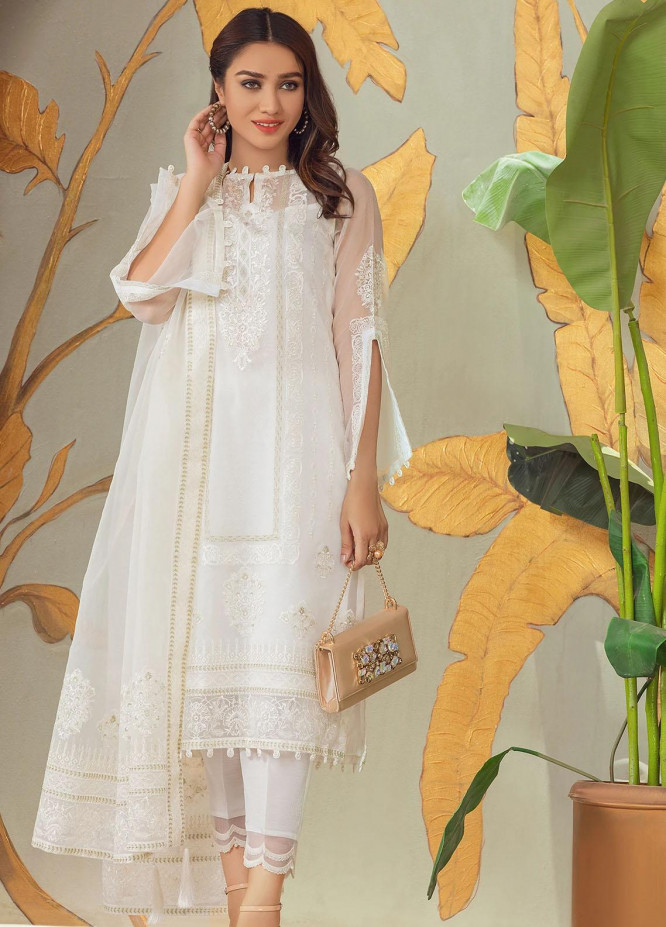 Nurani By Elegance Embroidered Organza Suits Unstitched 3 Piece ELG21N SINEEN - Festive Collection