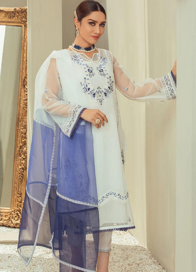 Nurani By Elegance Embroidered Organza Suits Unstitched 3 Piece ELG21N TALIYA - Festive Collection