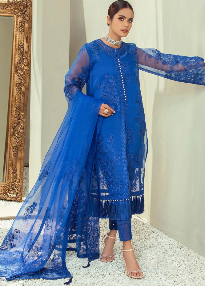 Nurani By Elegance Embroidered Organza Suits Unstitched 3 Piece ELG21N ZARIA - Festive Collection