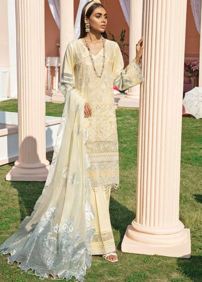 Nureh Embroidered Lawn Suits Unstitched 3 Piece NU21L 08 Aloha - Luxury Collection