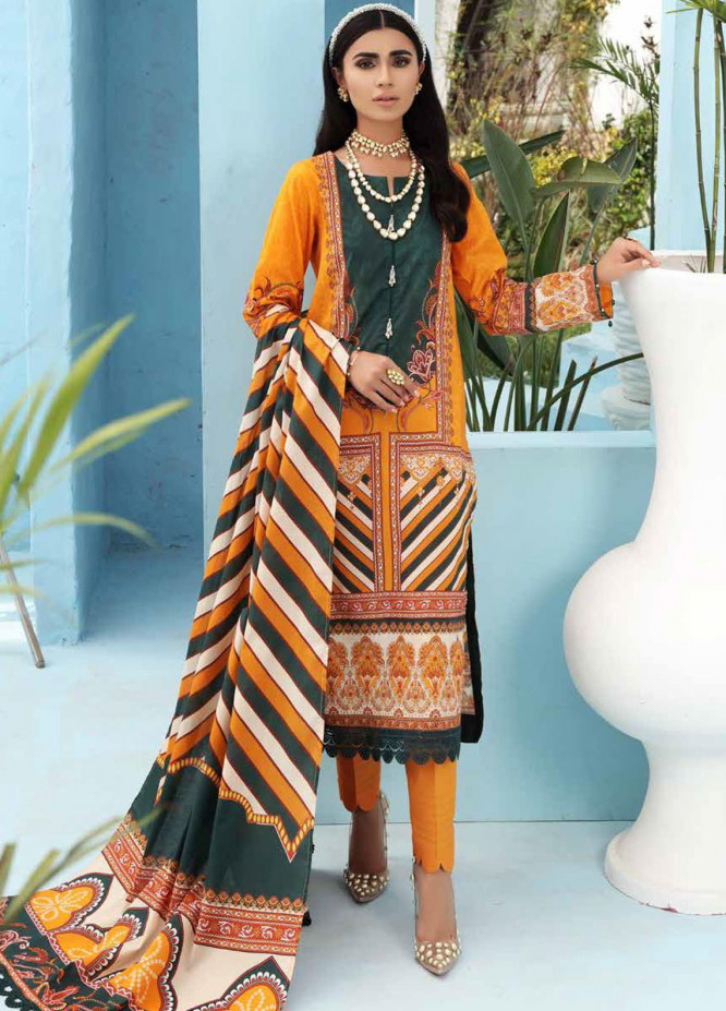 Nureh Printed Lawn Suits Unstitched 3 Piece NU21S SP-03 Skyline - Summer Collection