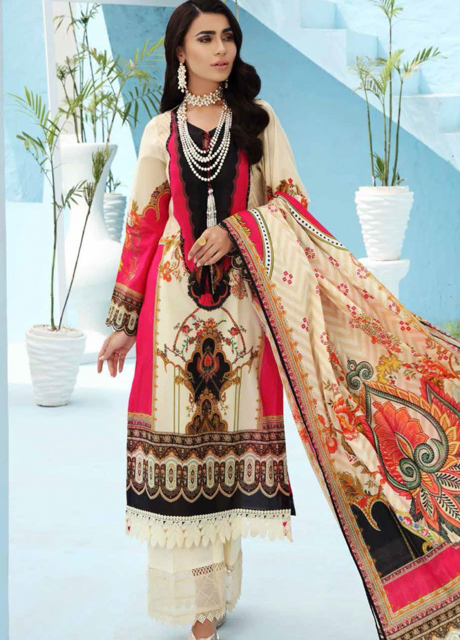 Nureh Printed Lawn Suits Unstitched 3 Piece NU21S SP-07 Chantily Pearl - Summer Collection
