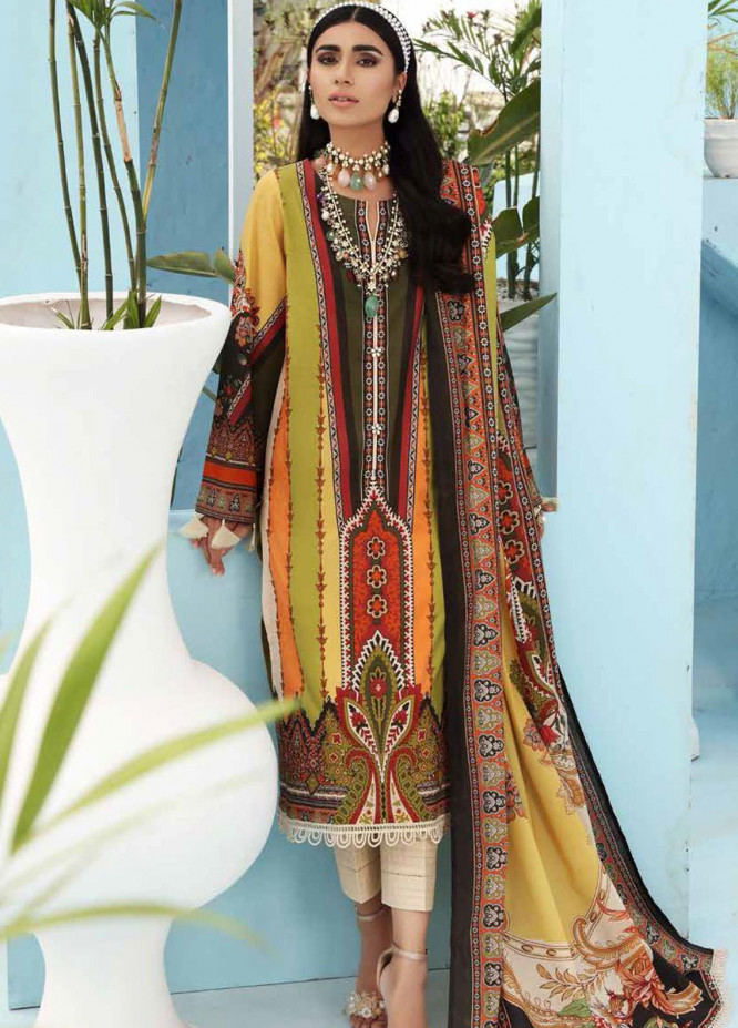 Nureh Printed Lawn Suits Unstitched 3 Piece NU21S SP-08 Jasper - Summer Collection