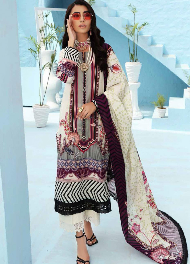 Nureh Printed Lawn Suits Unstitched 3 Piece NU21S SP-09 Abroo - Summer Collection