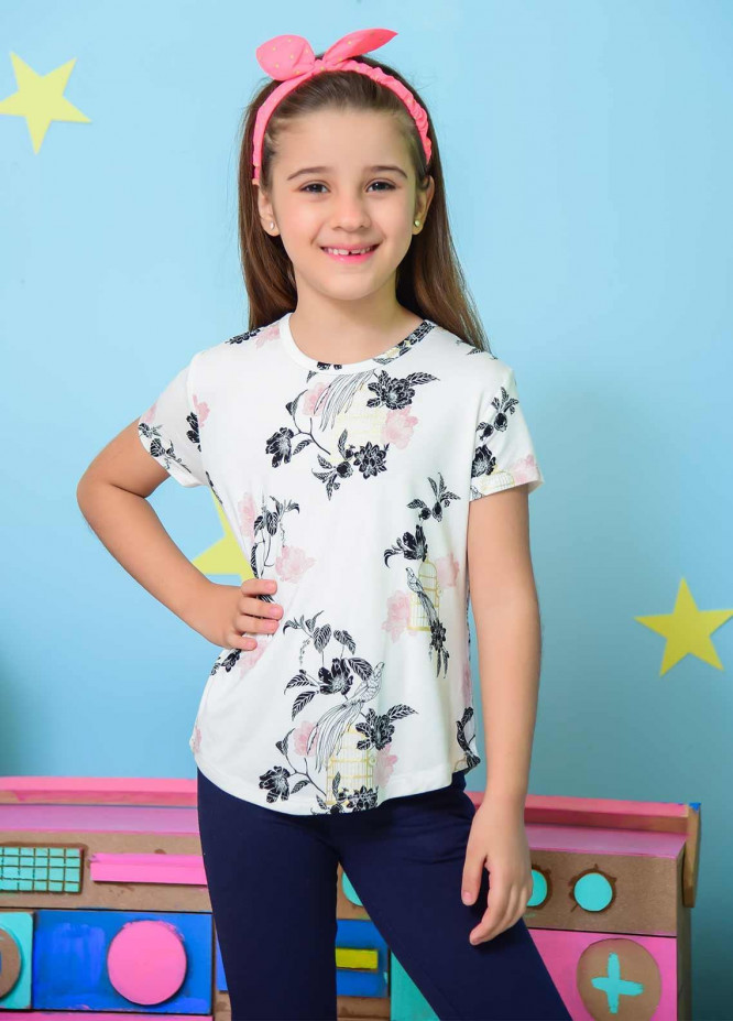 Ochre Cotton Fancy Western Tops for Girls -  OGK 68 White