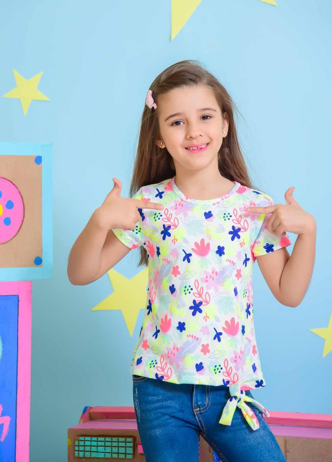 Ochre Cotton Fancy Western Tops for Girls -  OGK 70 Mix