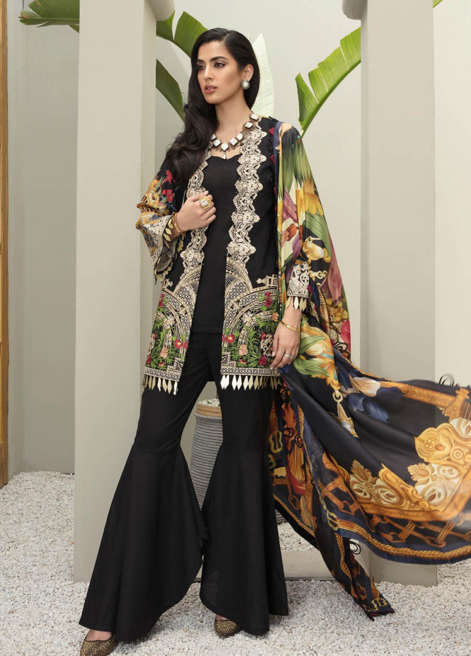 Ophelia By Epoque Embroidered Lawn Suits Unstitched 3 Piece EP21O 07 Dark Spectrum - Festive Collection
