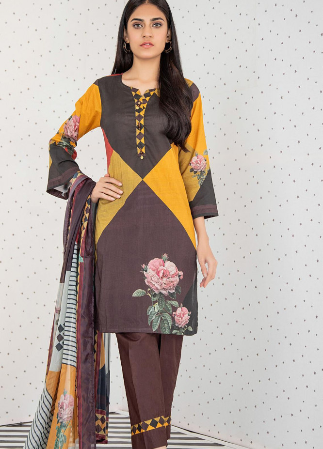 Orchid by Regalia Textiles Printed Lawn Unstitched 3 Piece Suit RGT21O 01 - Summer Collection