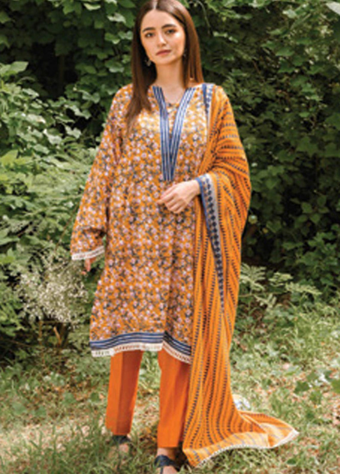 Orient Textile Printed Linen Unstitched 3 Piece Suit OT20MW A-202 - Winter Collection