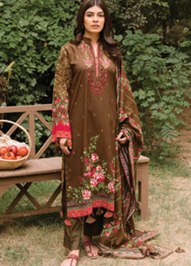 Orient Textile Embroidered Linen Unstitched 3 Piece Suit OT20MW B-204 - Winter Collection