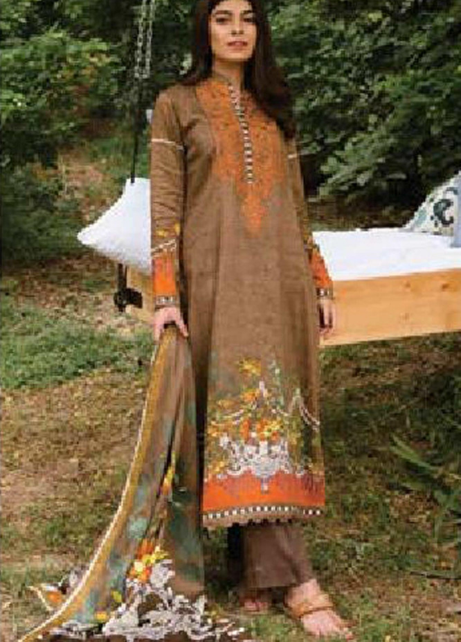 MYSA by Orient Embroidered Cottel Linen Unstitched 3 Piece Suit OT20-MW2 215 A - Winter Collection