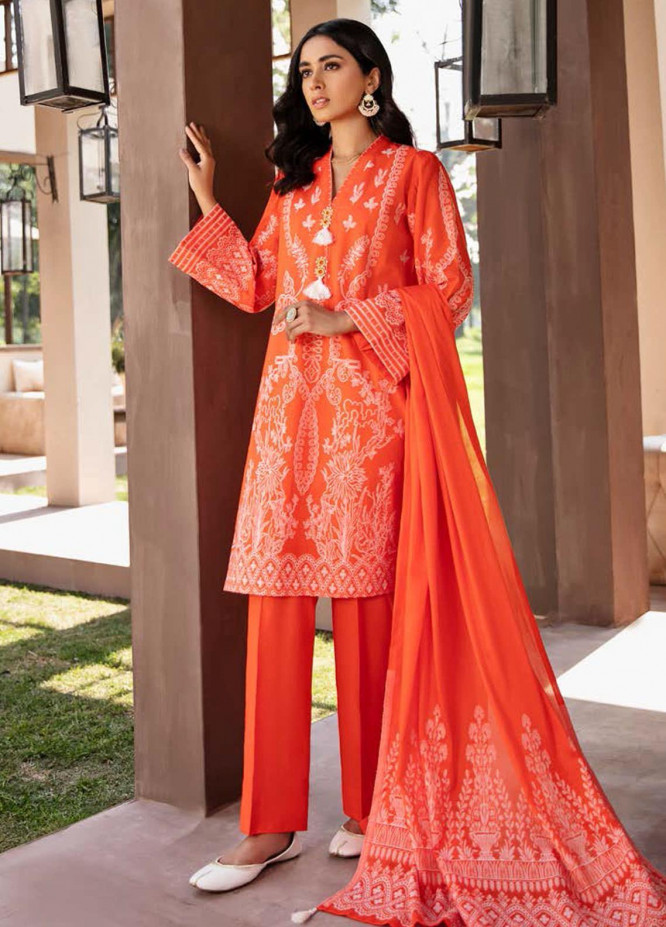Darmiyaan by Orient Textile Embroidered Jacquard Suits Unstitched 3 Piece OT21FJ NRDS-255-Peach - Festive Collection