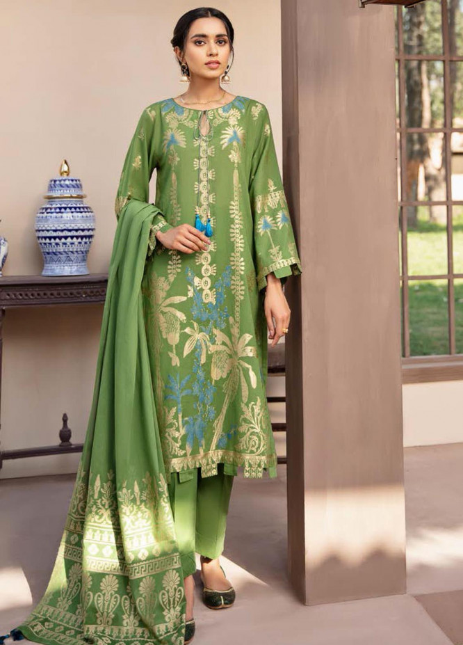 Darmiyaan by Orient Textile Embroidered Jacquard Suits Unstitched 3 Piece OT21FJ NRDS-259-Green - Festive Collection