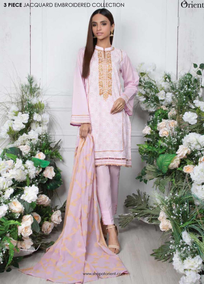 Orient Textile Embroidered Lawn Unstitched 3 Piece Suit OT20SS 015A - Spring / Summer Collection