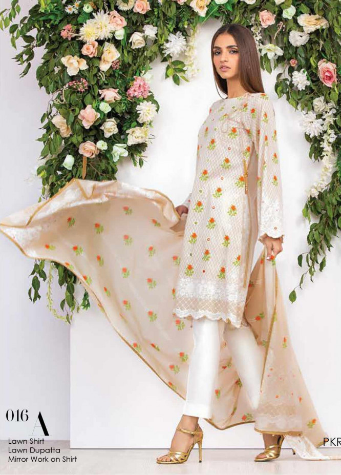 Orient Textile Embroidered Lawn Unstitched 2 Piece Suit OT20SS 016A - Spring / Summer Collection
