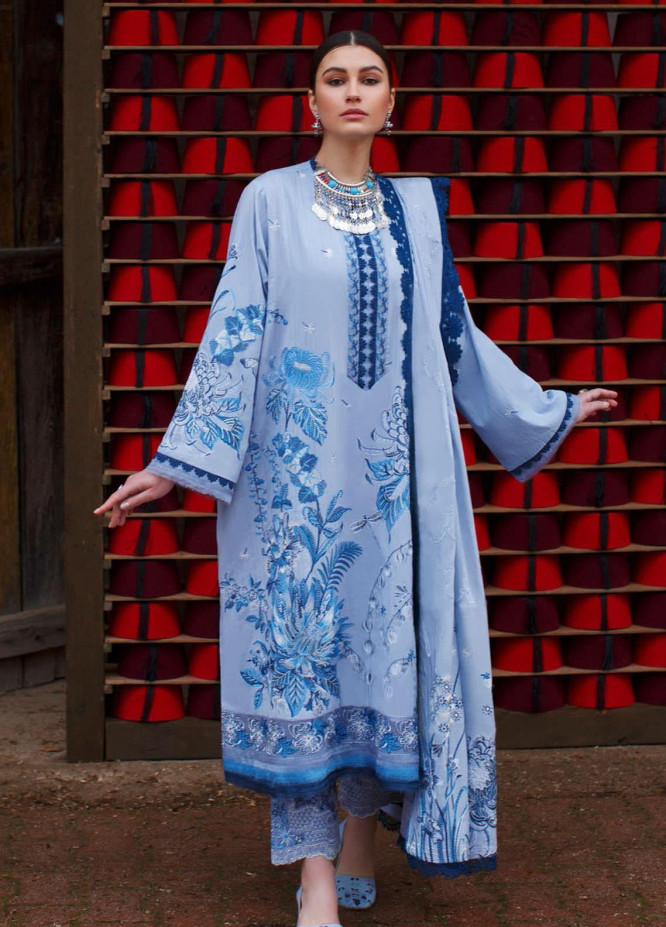 Elan Embroidered Lawn Suits Unstitched 3 Piece EL21OR EL21-06-B Aergul - Summer Collection