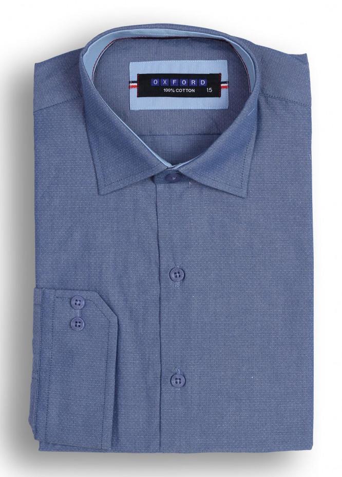 Oxford Cotton Casual Shirts for Men - Dark Blue Mens Formal Shirt SH 1302 D BLUE