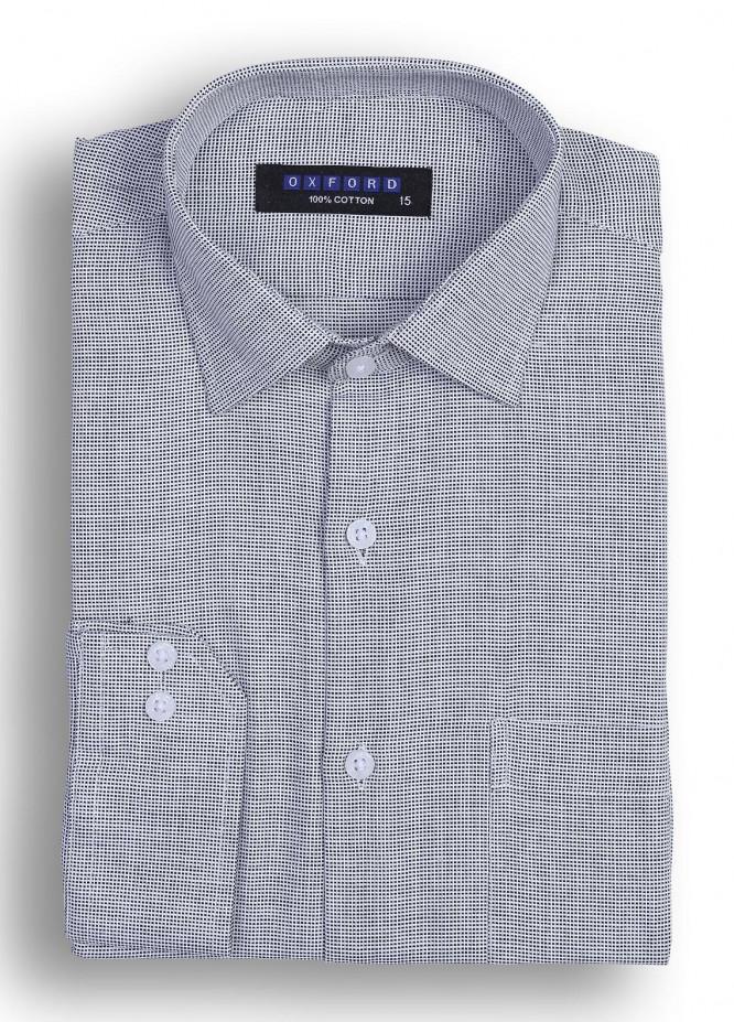 Oxford Cotton Striped Men Shirts - Black Mens formal shirts SH 1373 BLACK