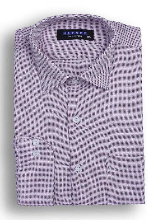 Oxford Cotton Striped Shirts for Men - Maroon Mens formal shirts SH 1373 MAROON
