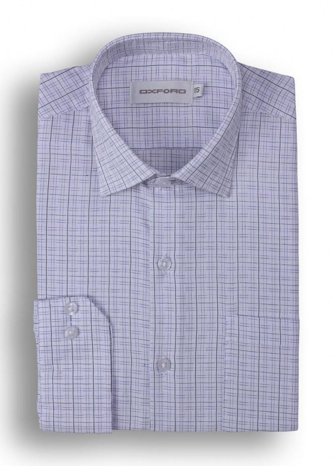 Oxford 80/20 Stripe Men Shirts - White Mens formal shirts SH 1417 WHITE STRIPE