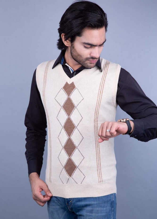 Oxford Lambswool Sleeveless Men Sweaters -  517 LMB S-L NATURAL