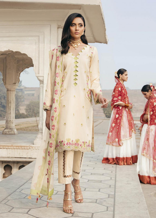 Dastaan By Panache Embroidered Lawn Suits Unstitched 3 Piece PN21D 01 - Luxury Collection