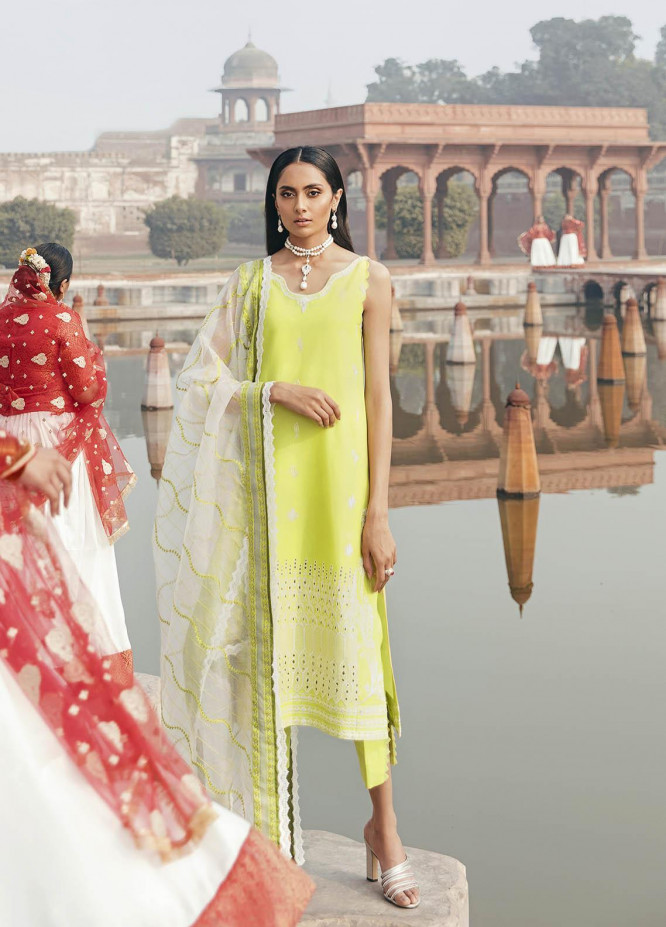 Dastaan By Panache Embroidered Lawn Suits Unstitched 3 Piece PN21D 04 - Luxury Collection