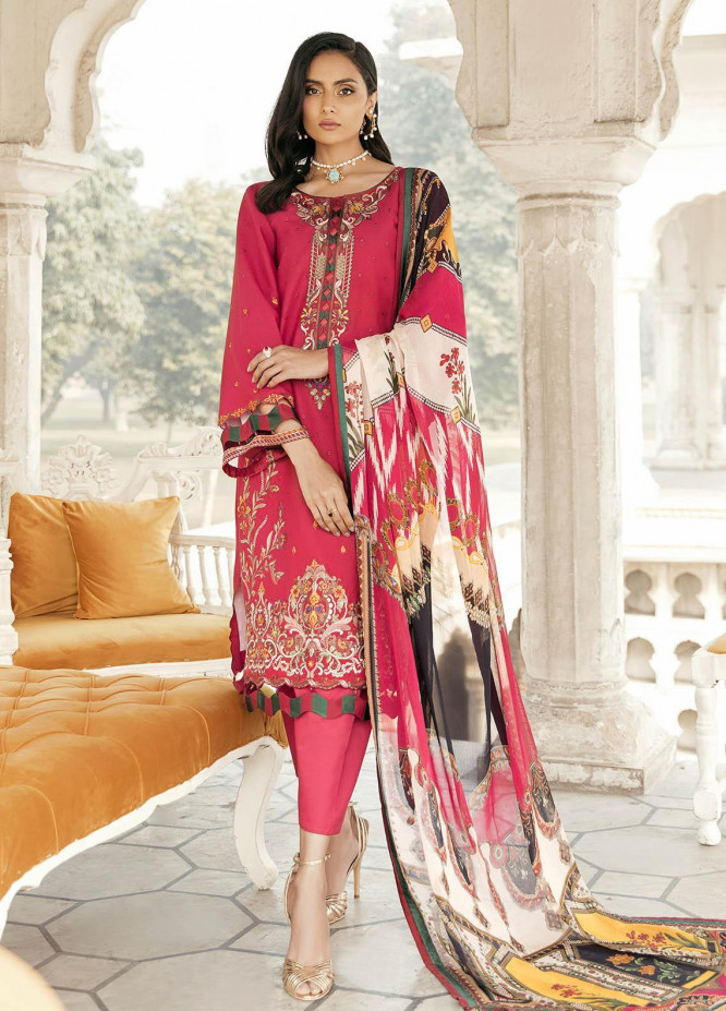 Dastaan By Panache Embroidered Lawn Suits Unstitched 3 Piece PN21D 05 - Luxury Collection