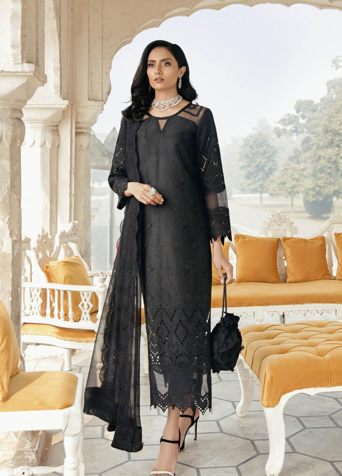 Dastaan By Panache Embroidered Lawn Suits Unstitched 3 Piece PN21D 07 - Luxury Collection