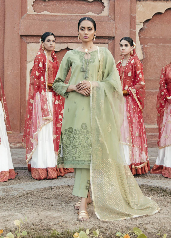 Dastaan By Panache Embroidered Lawn Suits Unstitched 3 Piece PN21D 09 - Luxury Collection