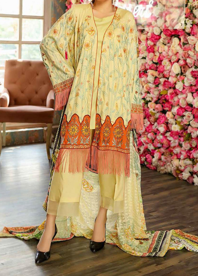 Panache by Puri Fabrics Embroidered Linen Unstitched 3 Piece Suit PCH20LN 02 - Winter Collection