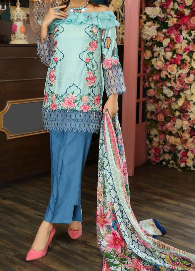 Panache by Puri Fabrics Embroidered Linen Unstitched 3 Piece Suit PCH20LN 03 - Winter Collection
