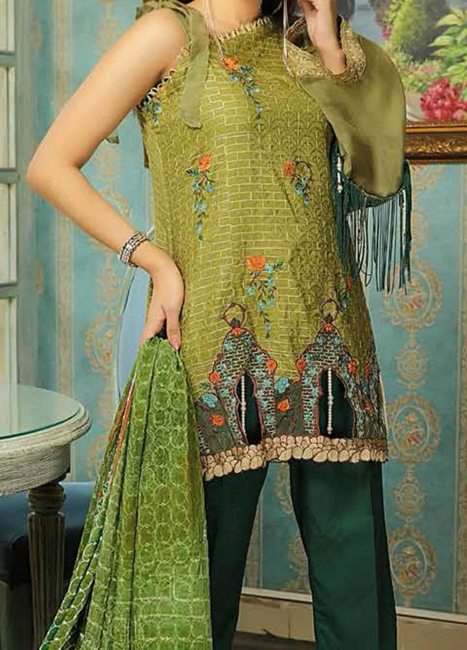 Panache by Puri Fabrics Embroidered Linen Unstitched 3 Piece Suit PCH20LN 06 - Winter Collection
