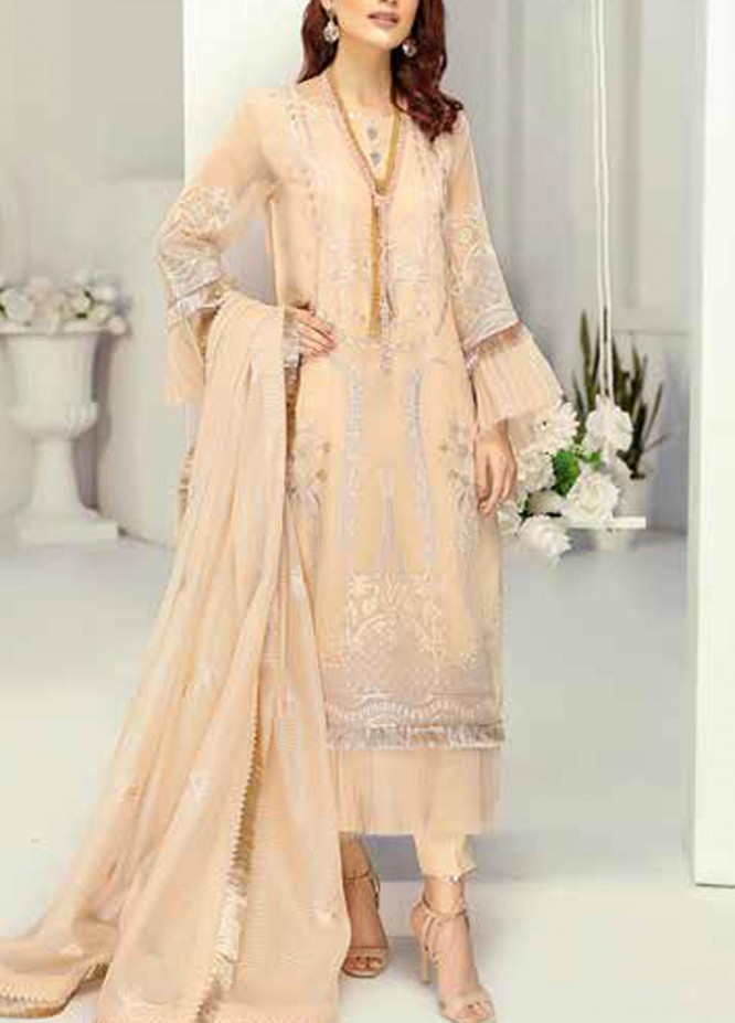 Panache by Puri Fabrics Embroidered Organza Unstitched 3 Piece Suit PCH20W 01 - Wedding Collection