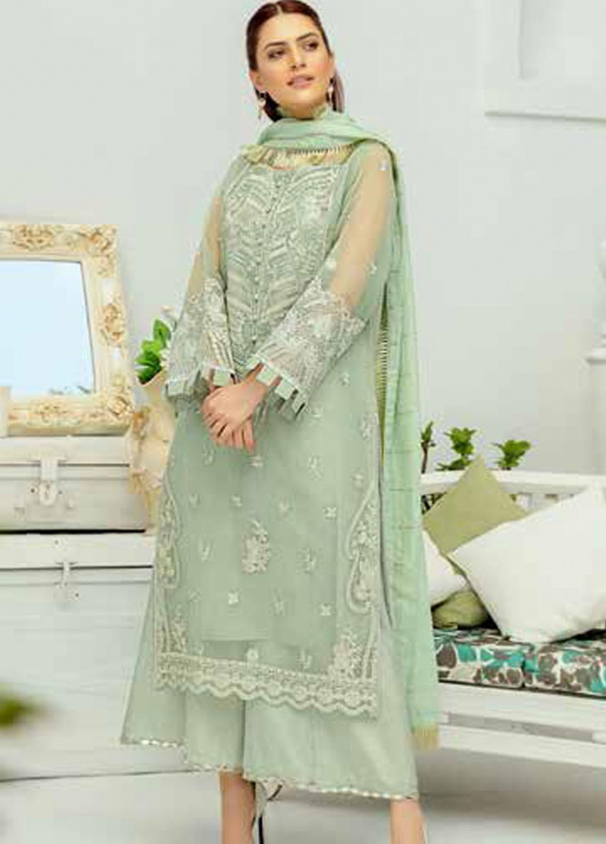 Panache by Puri Fabrics Embroidered Organza Unstitched 3 Piece Suit PCH20W 03 - Wedding Collection