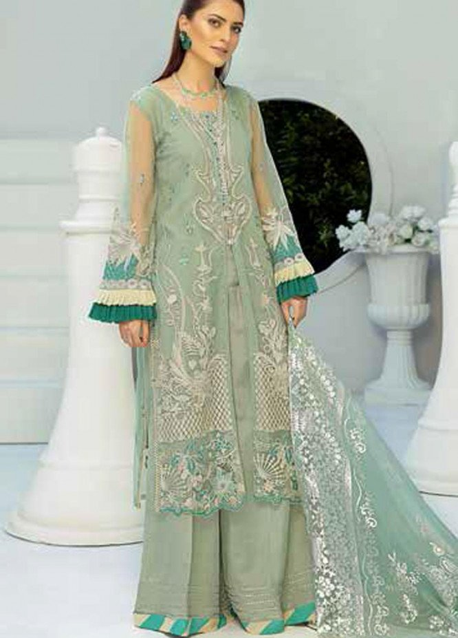 Panache by Puri Fabrics Embroidered Net Unstitched 3 Piece Suit PCH20W 08 - Wedding Collection