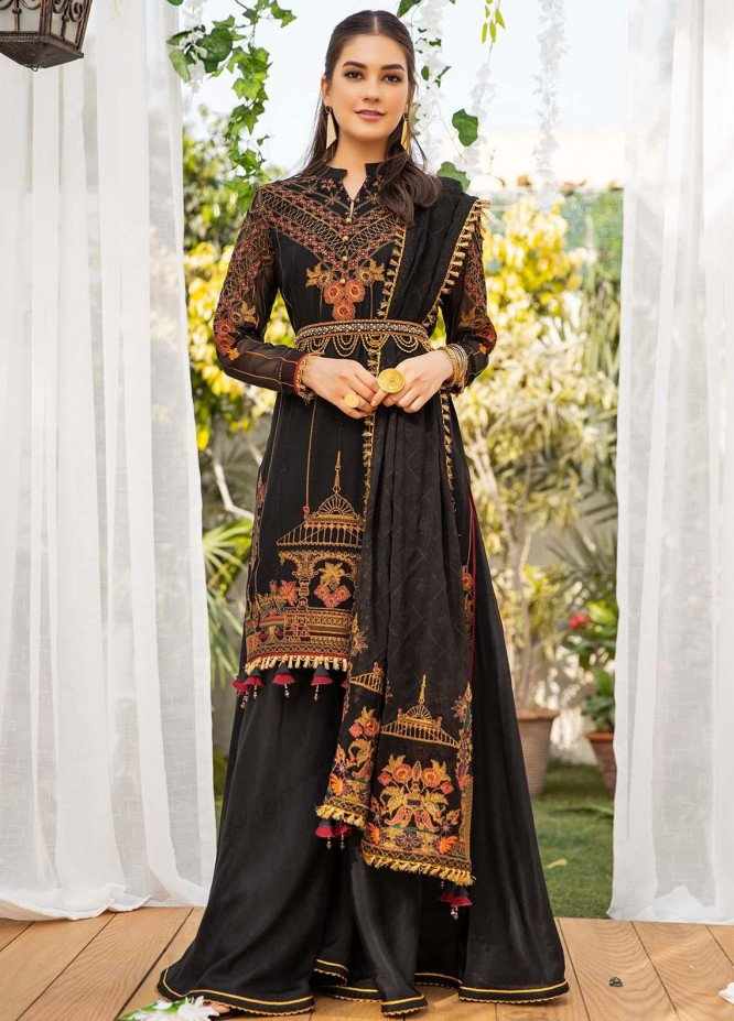 Parishey By Zaaviay Embroidered Chiffon Suits Unstitched 3 Piece ZV21P AYLA - Luxury Collection