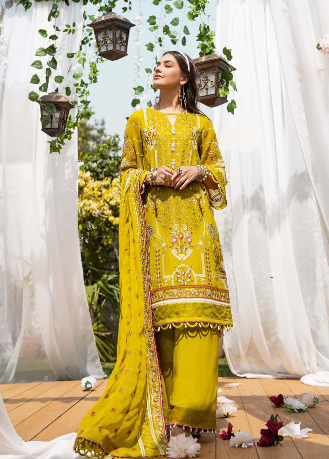 Parishey By Zaaviay Embroidered Chiffon Suits Unstitched 3 Piece ZV21P AYZAL  - Luxury Collection
