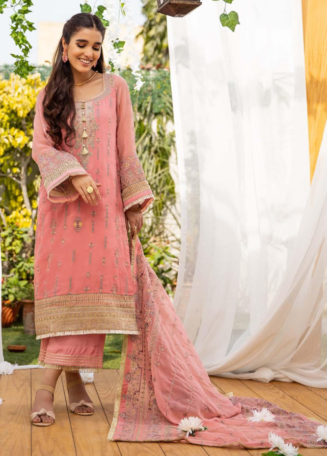 Parishey By Zaaviay Embroidered Chiffon Suits Unstitched 3 Piece ZV21P PARI - Luxury Collection