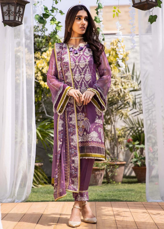 Parishey By Zaaviay Embroidered Chiffon Suits Unstitched 3 Piece ZV21P RIHA - Luxury Collection