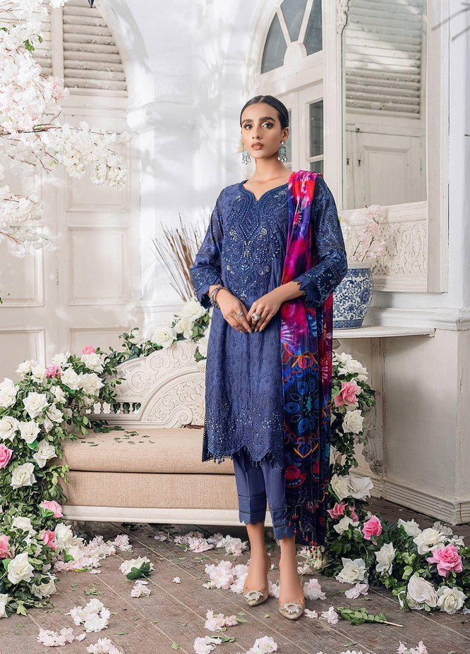 Parizeh by Al Zohaib Embroidered Chikankari Suits Unstitched 3 Piece AZ21CP D-02 - Winter Collection