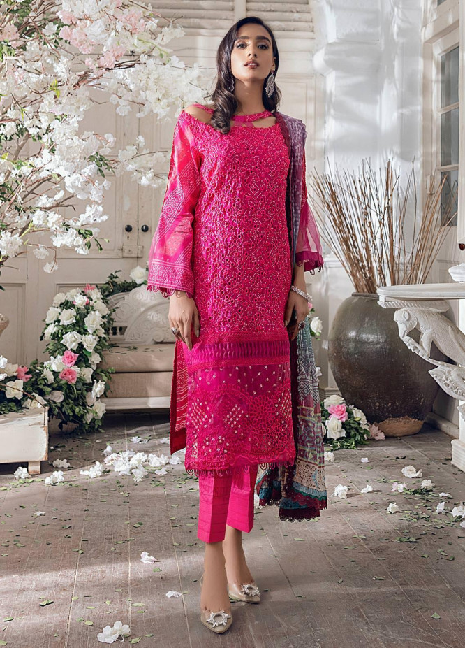 Parizeh by Al Zohaib Embroidered Chikankari Suits Unstitched 3 Piece AZ21CP D-03 - Winter Collection