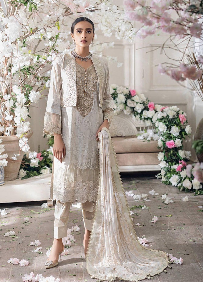 Parizeh by Al Zohaib Embroidered Chikankari Suits Unstitched 3 Piece AZ21CP D-04 - Winter Collection