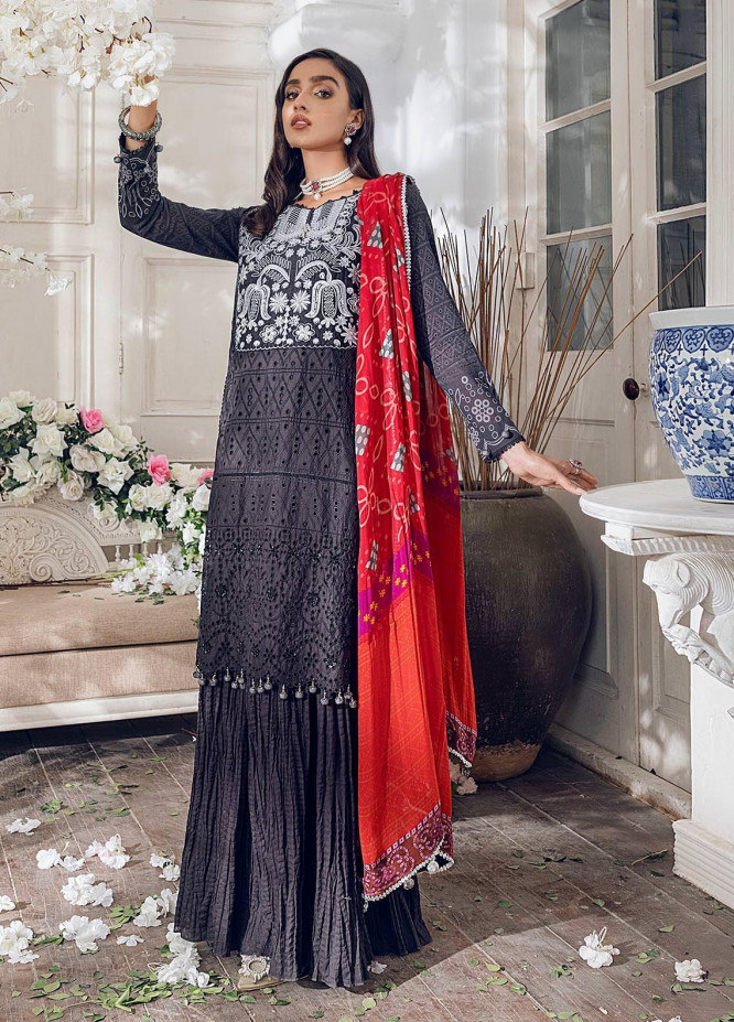 Parizeh by Al Zohaib Embroidered Chikankari Suits Unstitched 3 Piece AZ21CP D-05 - Winter Collection