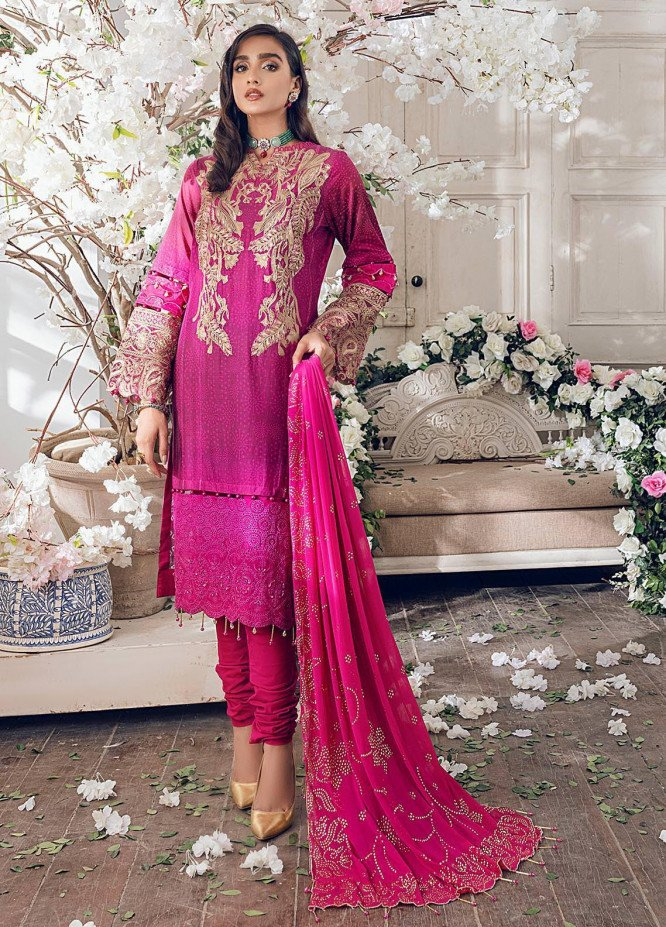 Parizeh by Al Zohaib Embroidered Chikankari Suits Unstitched 3 Piece AZ21CP D-07 - Winter Collection