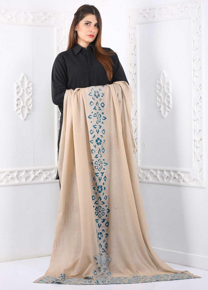 Sanaulla Exclusive Range Embroidered Pashmina  Shawl Cut Work 323454 - Pashmina Cut Work Shawls